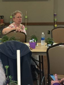 ECOEA-Retired member Carol Meyers is very attentive at the Mansfield Conference.